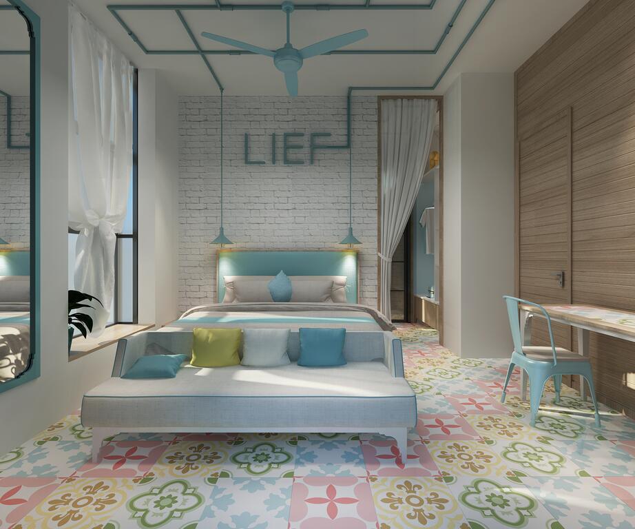 công trình sơn cách nhiệt sơn kính khách sạn Lief Mila vũng tàu