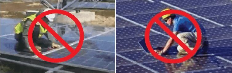 cách vệ sinh tấm pin mặt trời