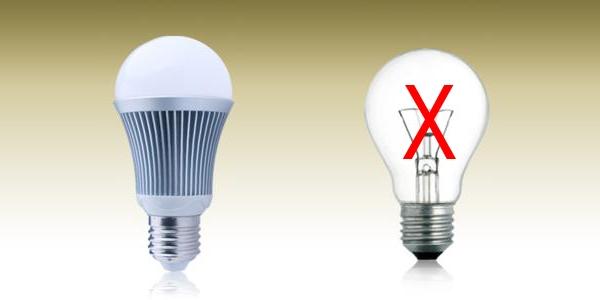 Sử dụng đèn compact thay vì đèn sợi đốt