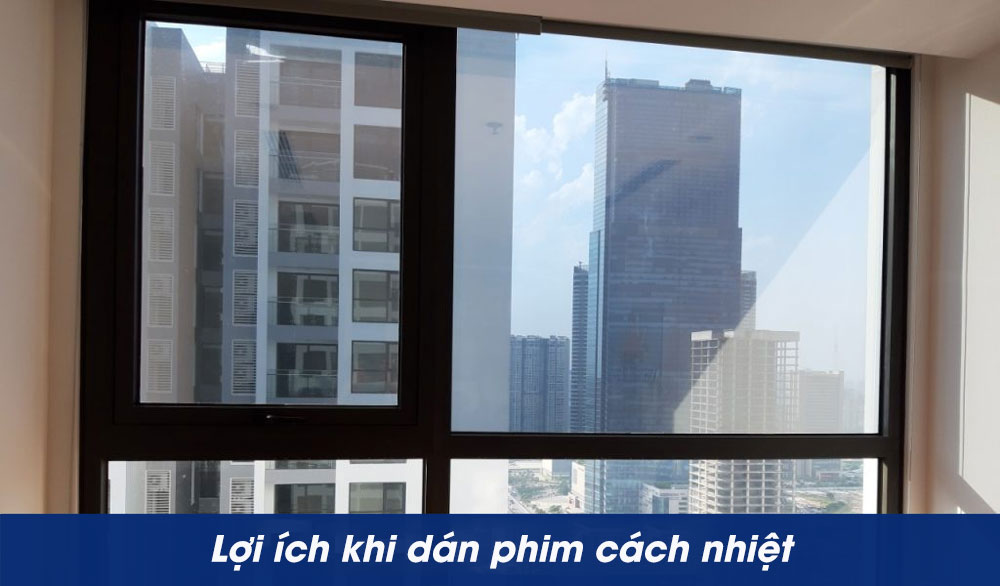 Tác dụng khi dán phim cách nhiệt cửa sổ chung cư