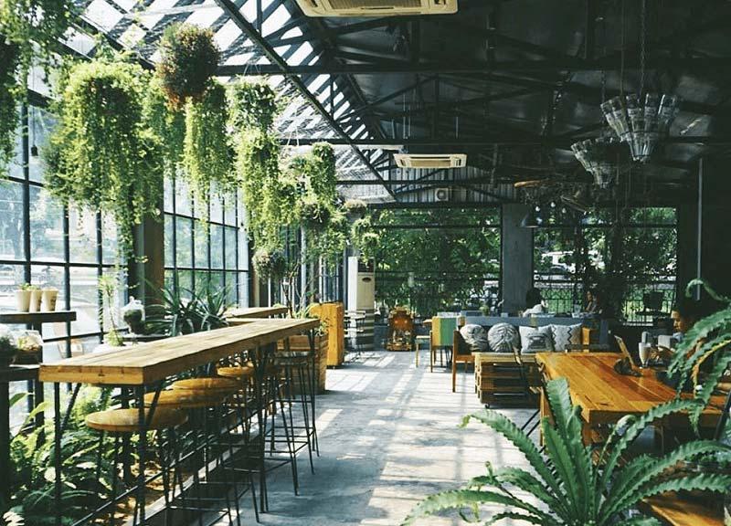 ý tưởng thiết kế quán cafe bằng kính