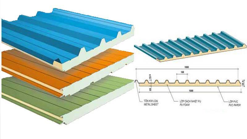 vật liệu xây nhà chống nóng - tôn cách nhiệt