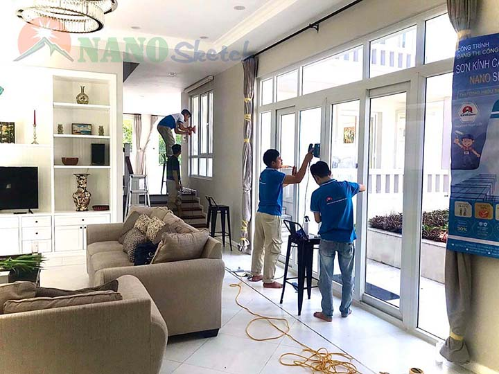 chống nóng biệt thự xanh villa