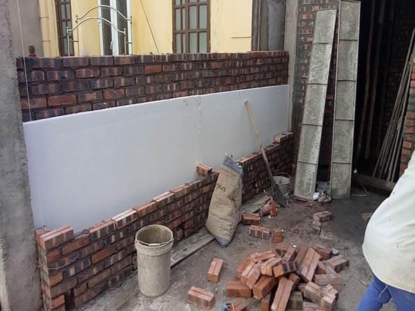 xây dựng tường 2 lớp cách nhiệt
